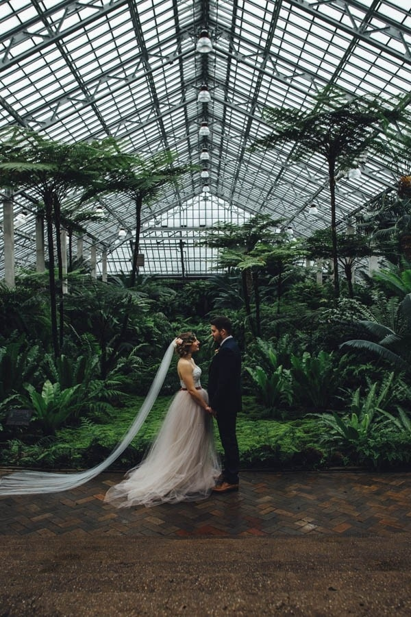 Greenhouse Wedding Inspiration at Garfield Park Conservatory