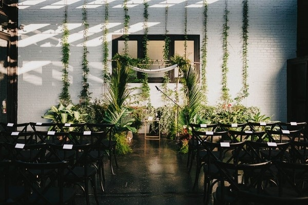Urban Greenhouse Wedding at 501 Union