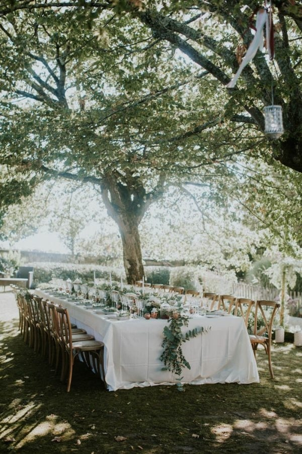 Gorgeous Bordeaux Winery Wedding at Chateau Franc Mayne Floral Reception Inspiration