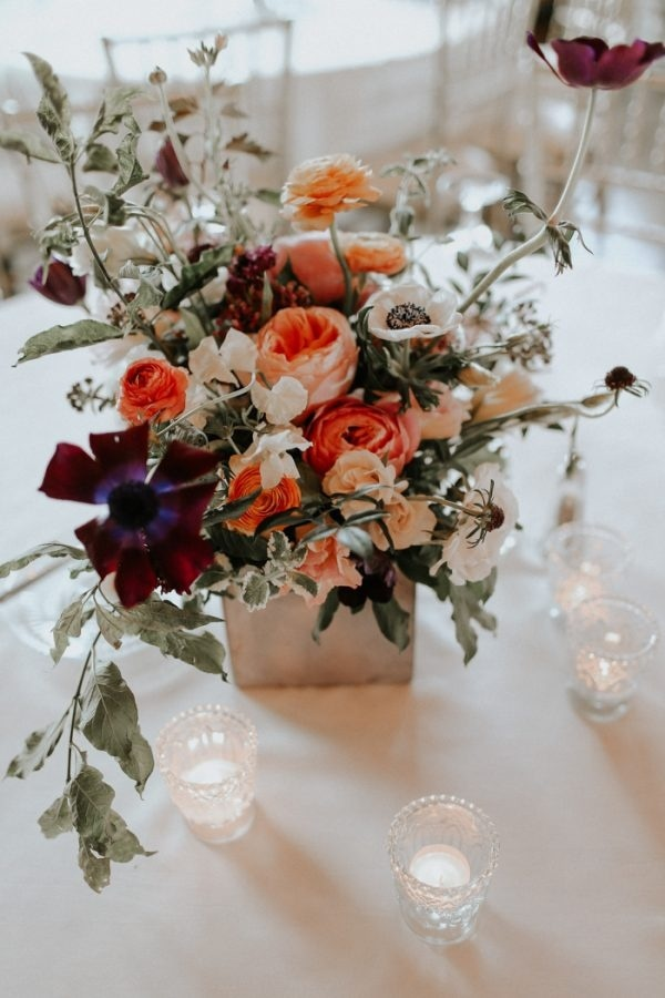 Bright and Moody Fall Floral Arrangement