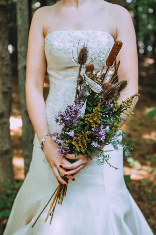 Intimate Fall Backyard Wedding Bridal Bouquet