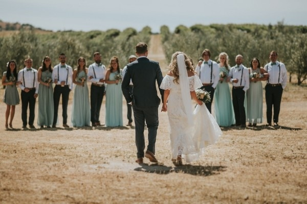 California Countryside Wedding at Palomar Junction Vineyard and Winery Wedding Party