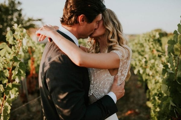 Sunset Photo in Bordeaux Winery Wedding