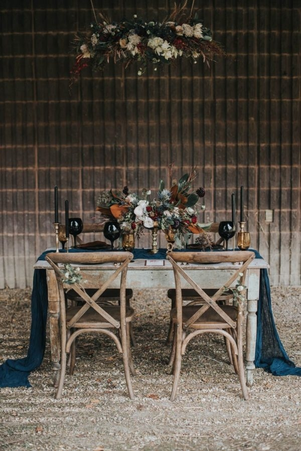 Moody Fall Color Palette Inspiration Table Decor