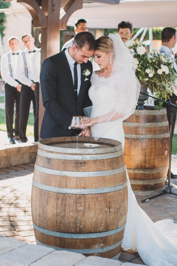 Black, White, and Gold Wedding at Guglielmo Winery Ceremony Moment