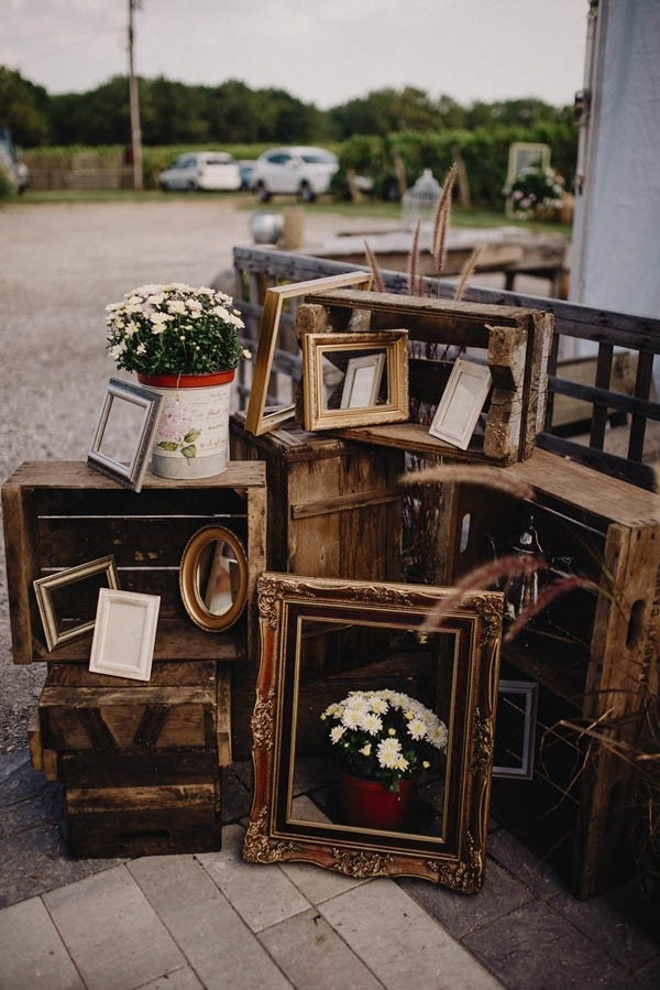 Winery Wedding at Stonewall Estates Frame and Flowers Installation