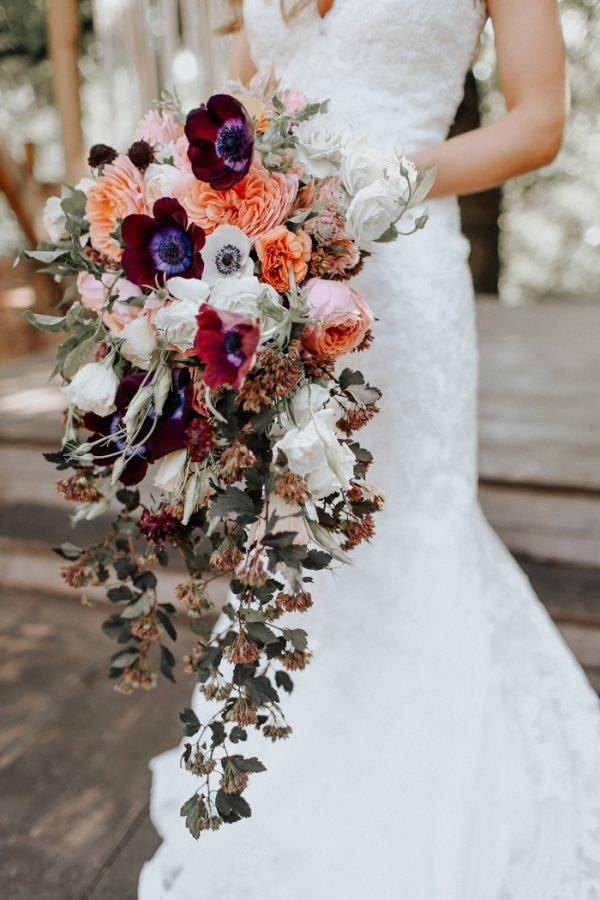 Bold and Soft Fall Bridal Bouquet