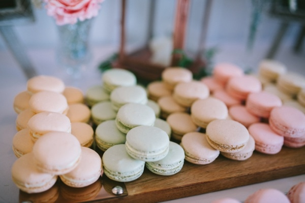 Colorful Wedding Macaron Display