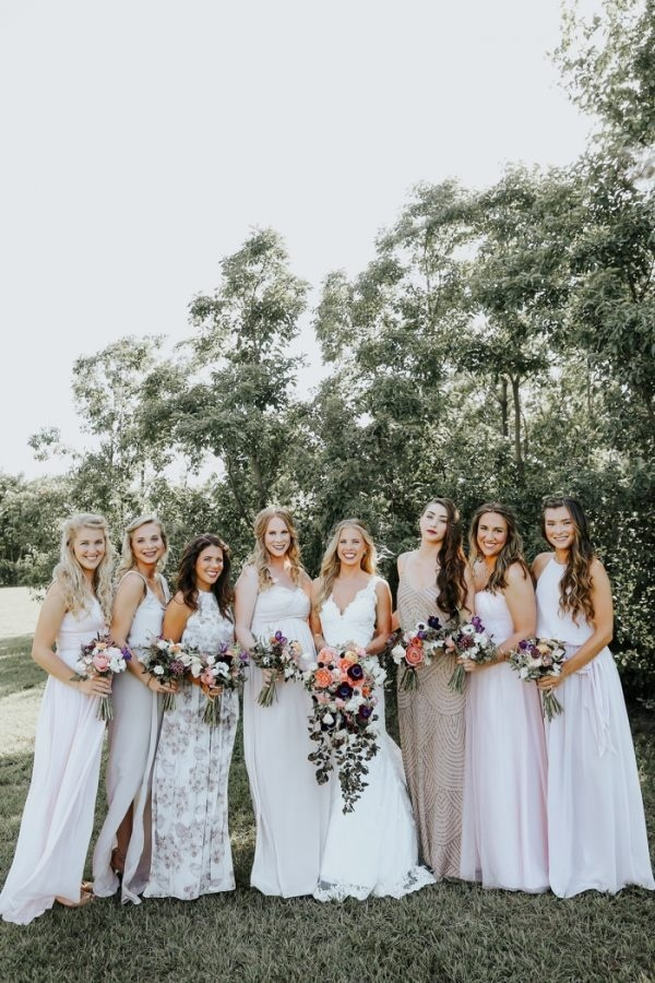 Airy And Light Neutral Bridesmaid Dresses
