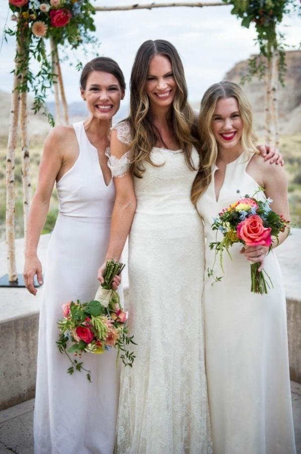 Long White Bridesmaid Dresses   Wedding Inspiration Board   Junebug ...