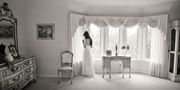 gorgeous, classic black and white bridal portrait by top Los Angeles based wedding photographers Amy and Stuart Photography