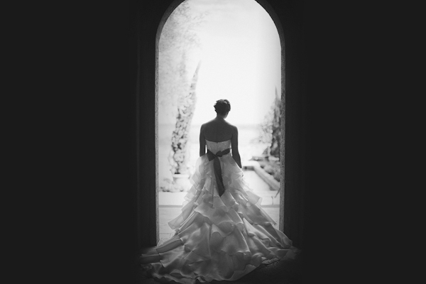 gorgeous, classic black and white bridal portrait by top Florida based wedding photographers Studio 222