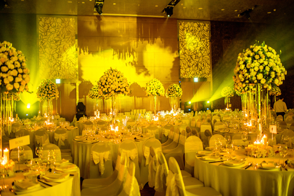 yellow and red wedding in Vietnam with photos by Mott Visuals Wedding | via junebugweddings.com