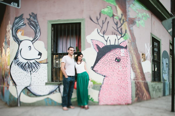 casual engagement session in colorful Santiago, Chile - photo by top Chile based destination wedding photographer Kyle Hepp