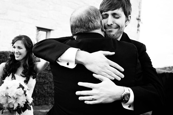 touching father son wedding photo by Kathryn Krueger | via junebugweddings.com