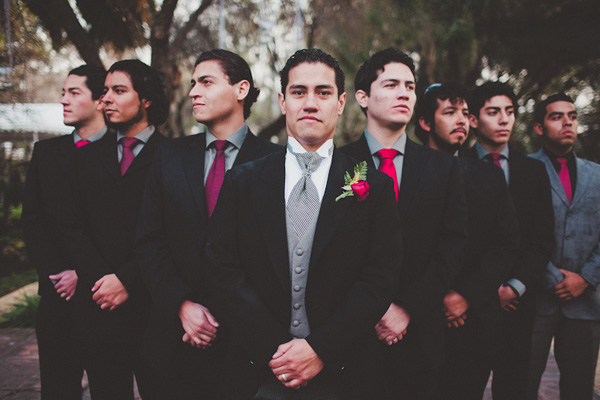 Mexico winter wedding with red and black color palette - photos by top Philadelphia based wedding photo journalists AGAiMAGES
