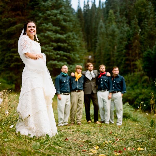 Native American Wedding Dresses: Melissa And Eric's Dunton Hot Springs Wedding Photo