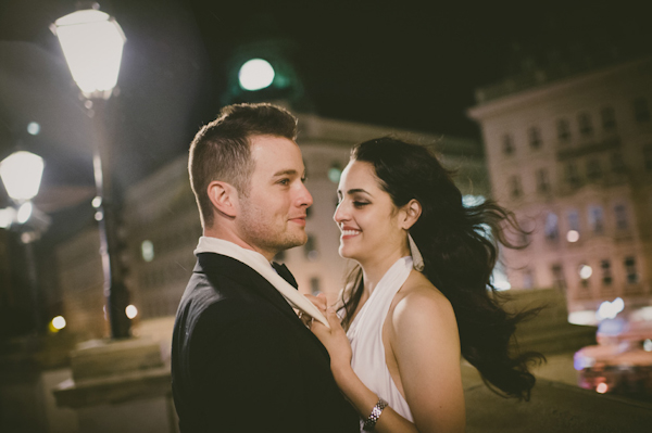 Vienna marriage proposal and engagement photo by top Austrian wedding photographer Claire Morgan | Junebug Weddings