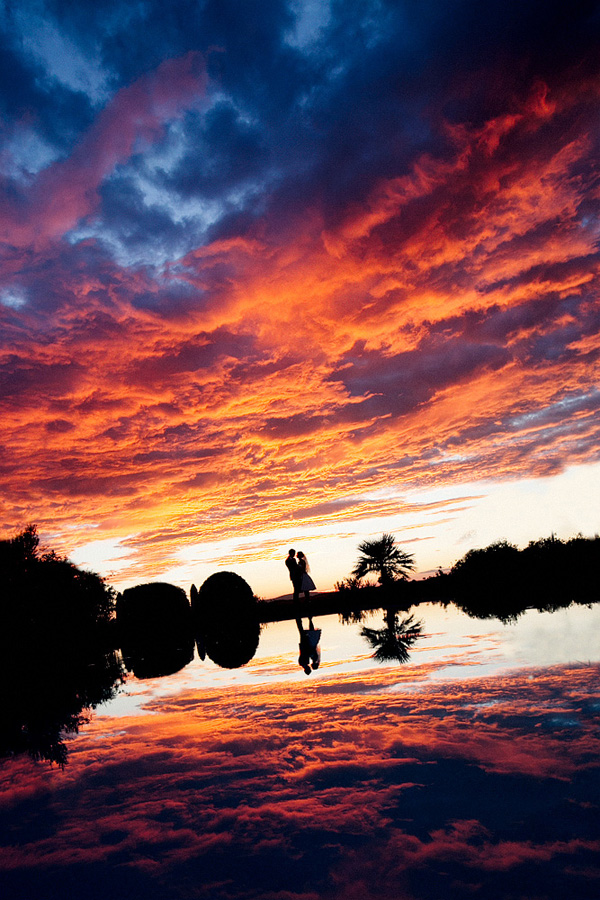 Gorgeous Sunset Wedding Photo By Julian Kanz Junebug Weddings