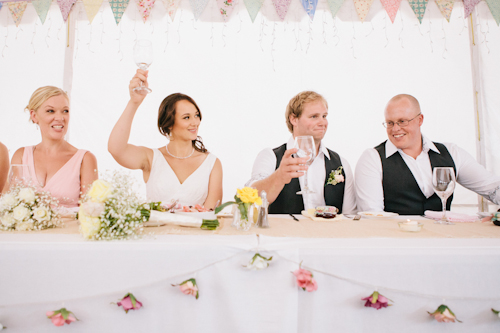 colorful handmade wedding in New Zealand with photos by Mary Sylvia Photography Inc. | junebugweddings.com