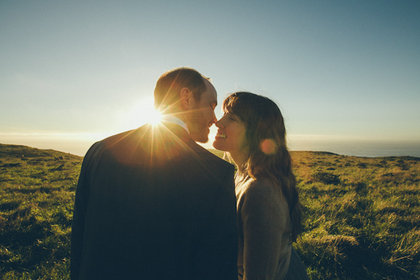 intimate elopement wedding in Point Reyes National Seashore with photos by Paco and Betty | junebugweddings.com