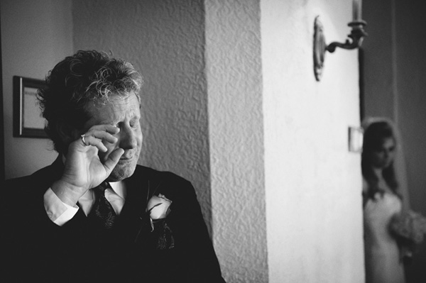 emotional wedding photo of father and daughter by Jason Mize Photography | via junebugweddings.com