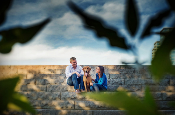 engagement photo with animal by Jackie Zoeller of Selah Photography | junebugweddings.com