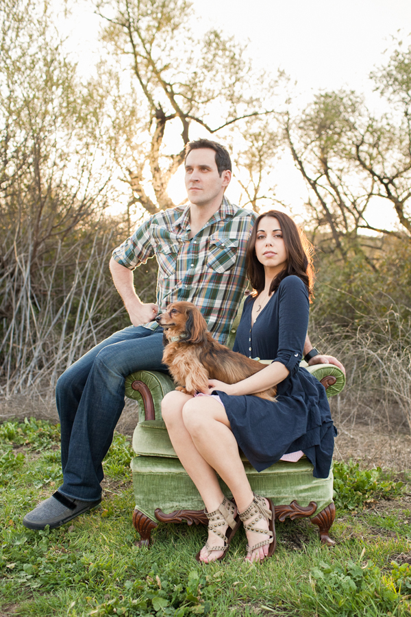 engagement photo with animal by Marianne Sanada of Marianne Wilson Photography | junebugweddings.com