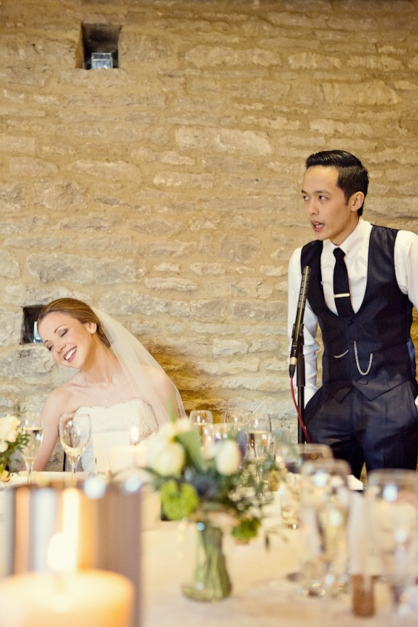 English wedding at The Tythe Barn in Bichester, with photos by Marianne Taylor Photography | junebugweddings.com