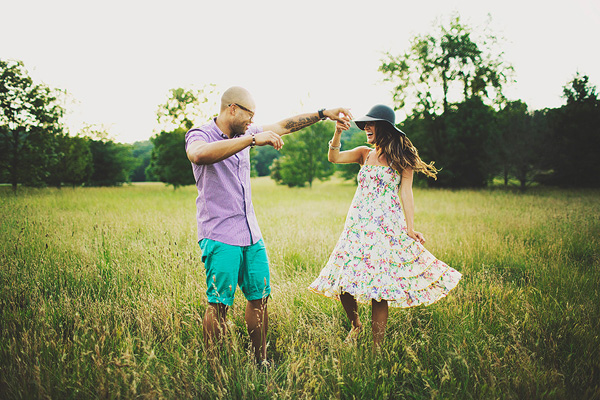 fun and playful engagement photo by Ariel Renae of Ariel Renae Photography | junebugweddings.com