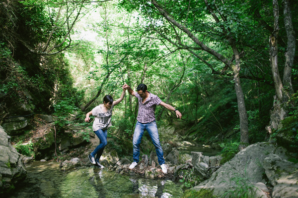 fun and playful engagement photo by Julian Kanz Photographer | junebugweddings.com