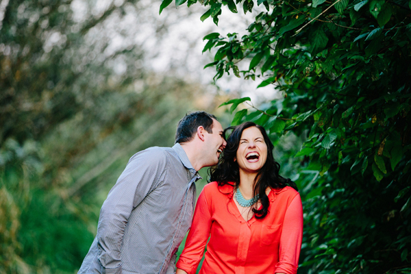 fun and playful engagement photo by Kat Speyer of Persimmon Images | junebugweddings.com