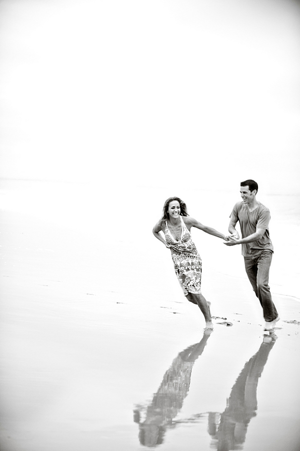 fun and playful engagement photo by Laurie Bailey of Laurie Bailey Photography | junebugweddings.com