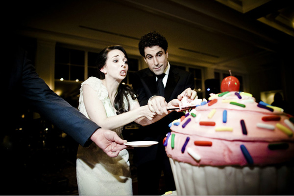 Funny Cake Cutting Photo By Viera Photographics