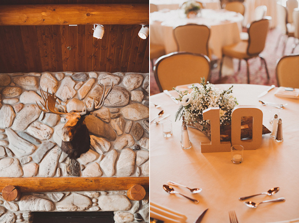 winter wedding at The Shore Lodge in Idaho with photos by Sara K Byrne Photography | via junebugweddings.com
