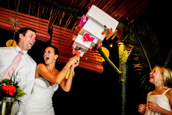 Funny Cake Cutting Photos By Junebug Weddings Member Photographers