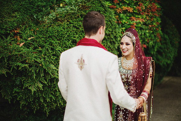 lively and colorful Indian wedding with photos by Ryan Flynn Photography | via junebugweddings.com