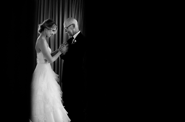 wedding photo of father by Maloman Studios | junebugweddings.com
