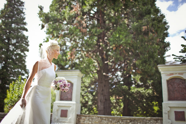 romantic purple and white wedding with photos by Daniele Del Castillo | via junebugweddings.com