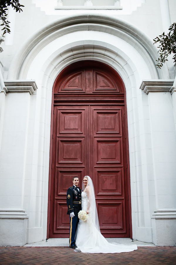 traditional military wedding in Savannah, Georgia with photos by Scott Hopkins Photography | via junebugweddings.com