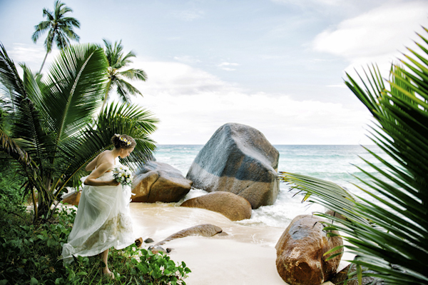 intimate and tropical wedding at Hilton Labriz in Seychelles, photos by Claire Morgan Photography   via junebugweddings.com