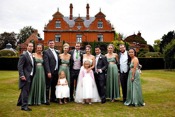 Portrait of the bridal party- Jane Austen inspired UK wedding in Chippenham Park - photos by top North Carolina wedding photographer Tracy Turpen
