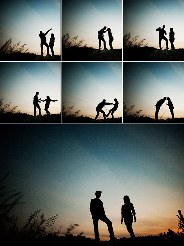 outdoor engagement photo shoot from Poser:Image