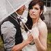 adorable rainy day wedding portraits in Washington