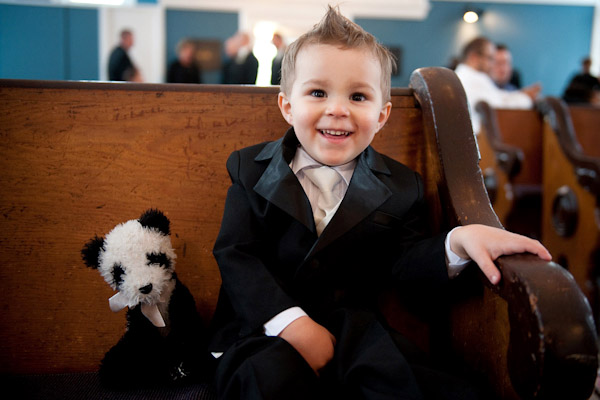 adorable wedding ring bearer with his teddy bear, photo by Barbie Hull Photography