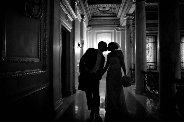 amazing silhouette wedding photo by Ira Lippke Studios