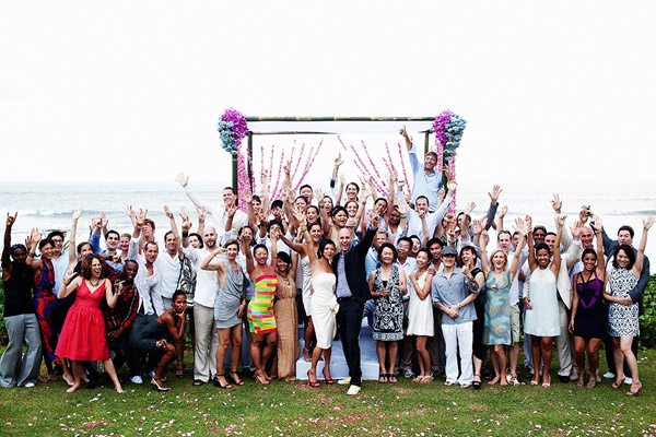 fun beach destination wedding in Bali at Villa Mary at Pantai Lima, event production by Balistarz, photography by Erik Clausen of Poser Image
