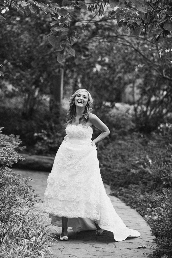 lovely garden bridal portraits by top Dallas wedding photographer Ryan Ray Photography, modern wedding style