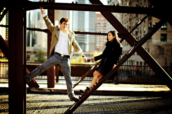 Chicago, IL engagement photo shoot by Kevin Weinstein Photography