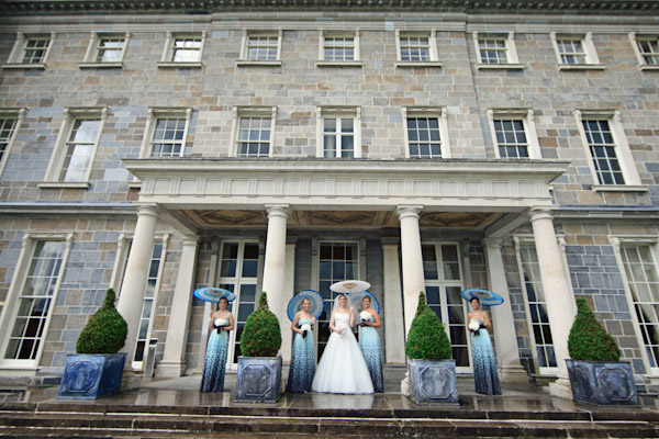 classically composed and beautiful wedding group photo by Alison Conklin Photography